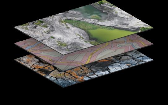 Layers of the GIS analysis